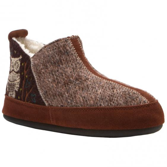 Acorn Forest Bootie Chocolate Owl A10079CHO (Women's)