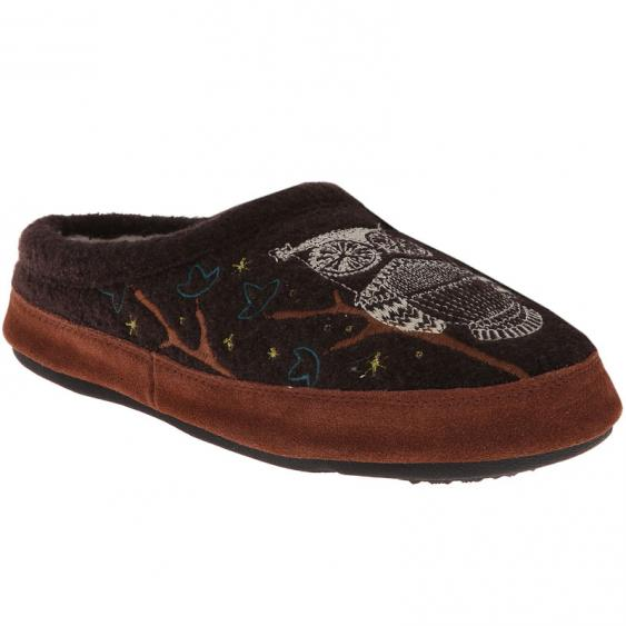 Acorn Forest Mule Chocolate Owl A10077CHO (Women's)