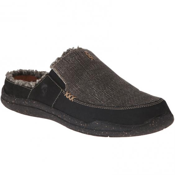 Acorn WearAbout Slide Stonewash Black Canvas A10123SWC (Men's)