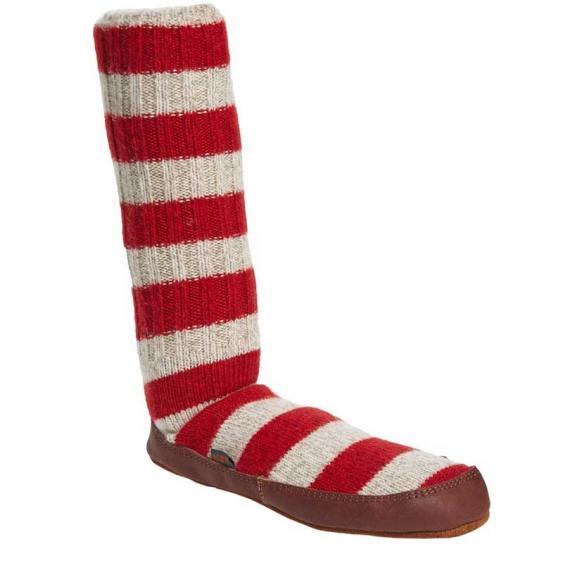 Acorn Slipper Sock Red Stripe A10118RST (Women's)