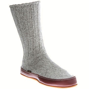 Acorn Slipper Sock Grey Ragg Wool A10118ACKS (Unisex)