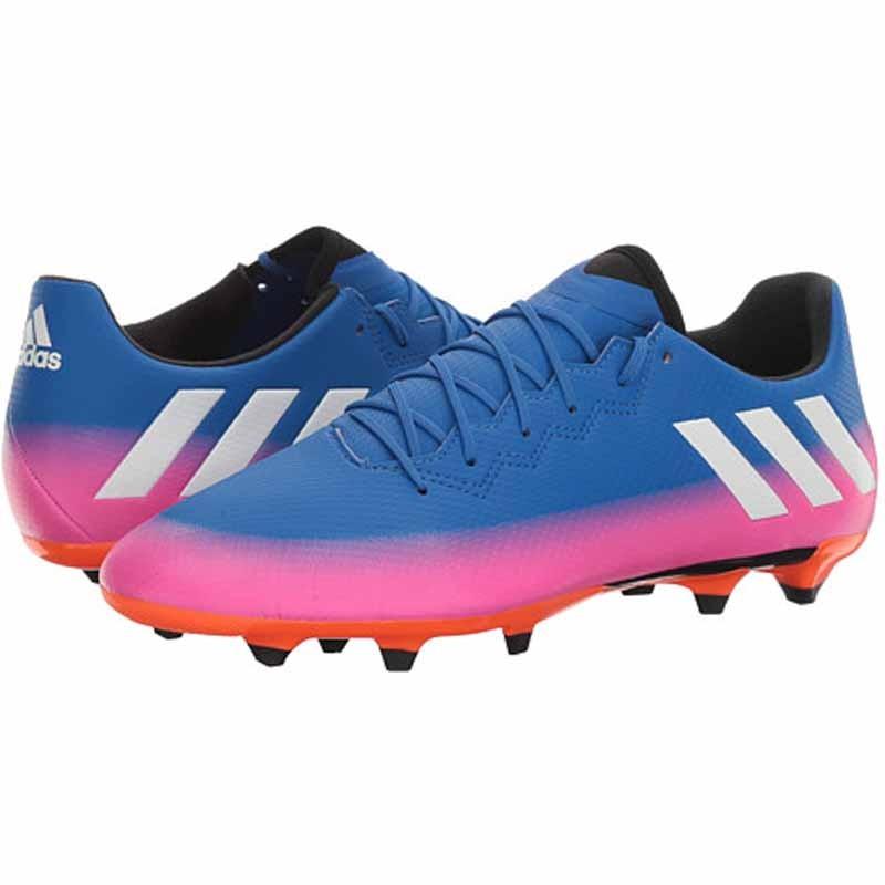 more photos 02073 d4ad0 Adidas Messi 16.3 FG Blue   White   Orange BA9021 (Men s)