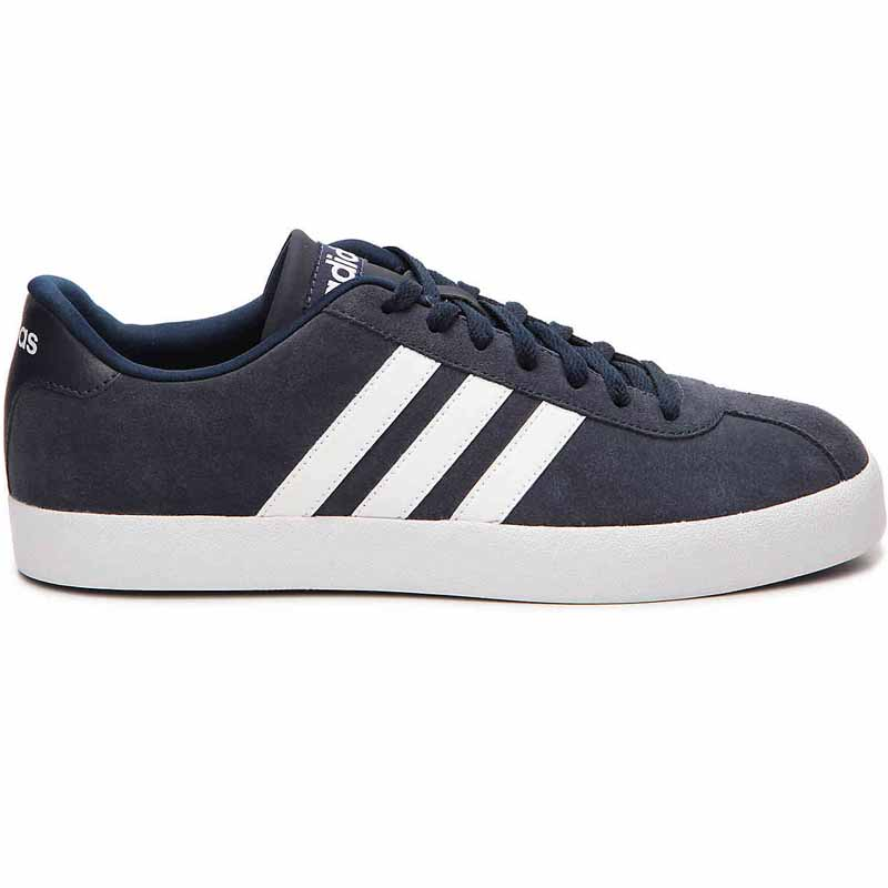White Adidas Mens Shoes Canvas