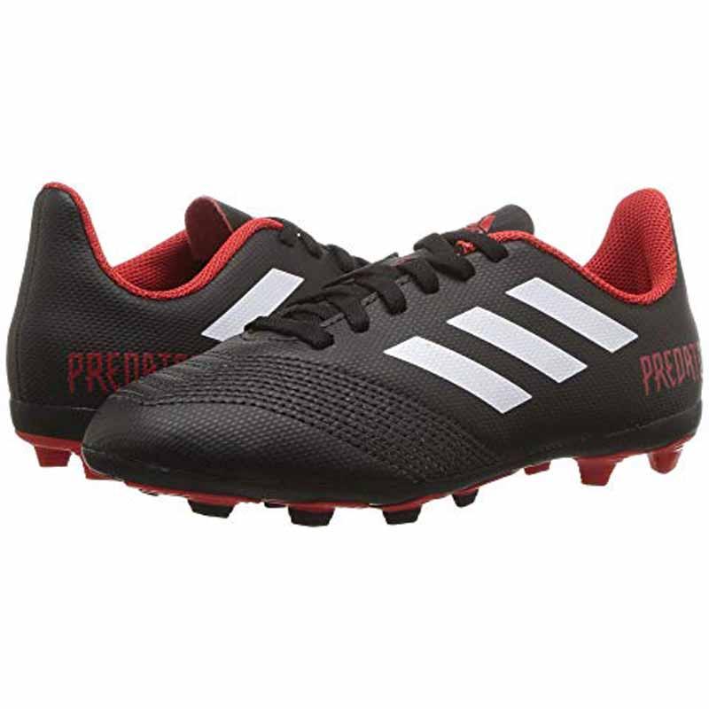Adidas Predator 18.4 FXG Black / White / Red DB2323 (Youth)