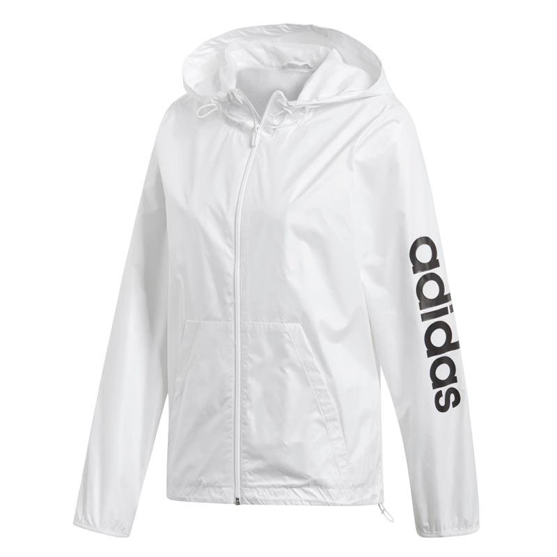 3a1886cb2 Adidas Essential Lin Windbreaker White DU0669 (Women's). Loading zoom
