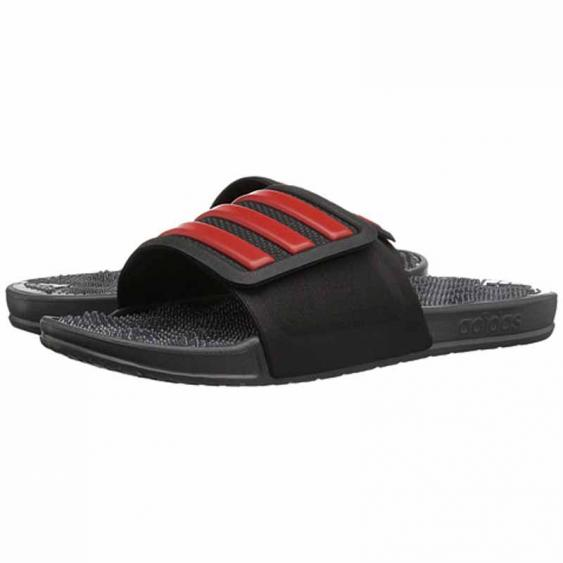 Adidas Adissage 2.0 Stripes Black / Red BB4571 (Men's)