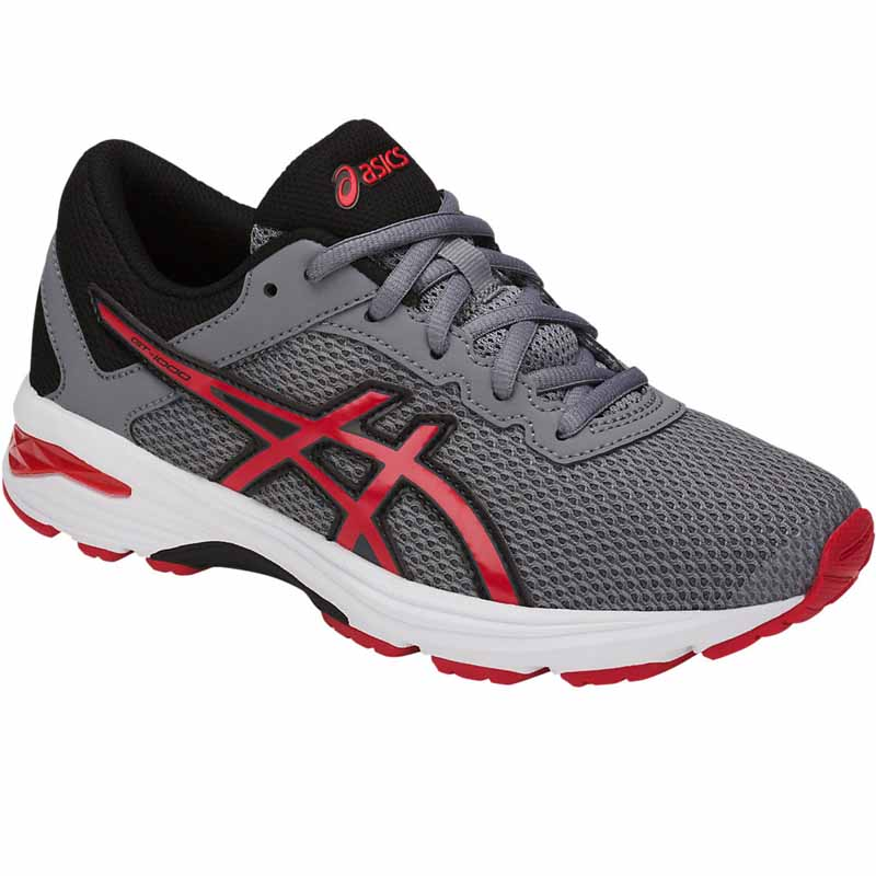 af3194effd92 Asics GT 1000 6 GS Grey   Red   Black C740N.1123 (Youth). Loading zoom