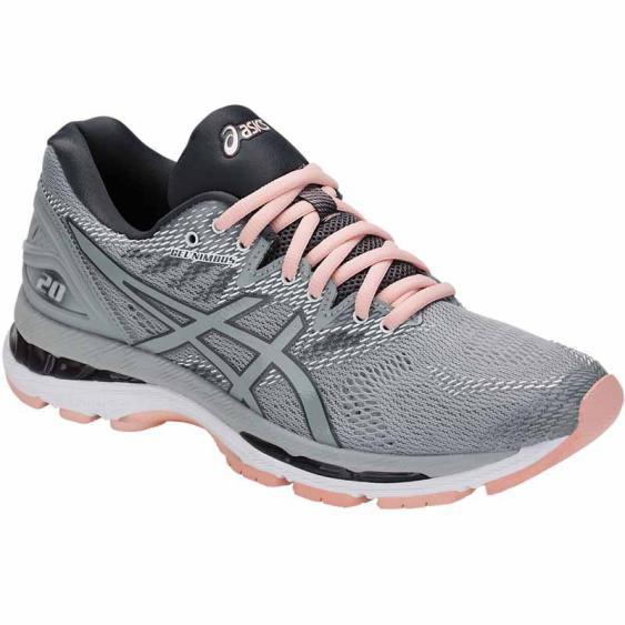 Asics Gel Nimbus 20 Mid Grey / Pink T850N.9696 (Women's)