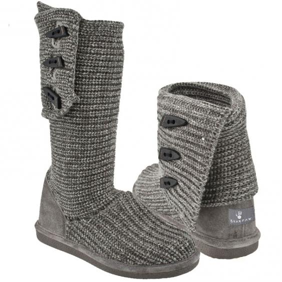 Bearpaw Knit Tall Gray 658W-055 (Women's)