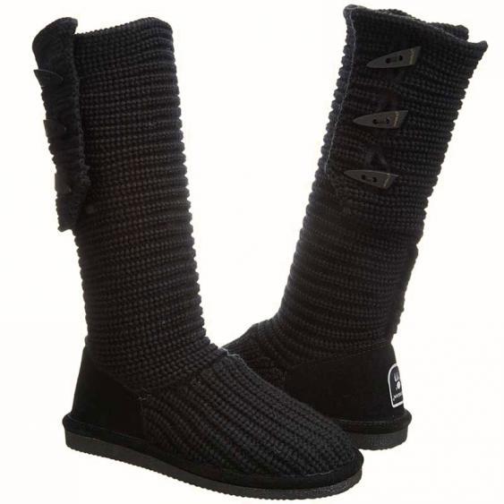 Bearpaw Knit Tall Black 658w 011 Women S