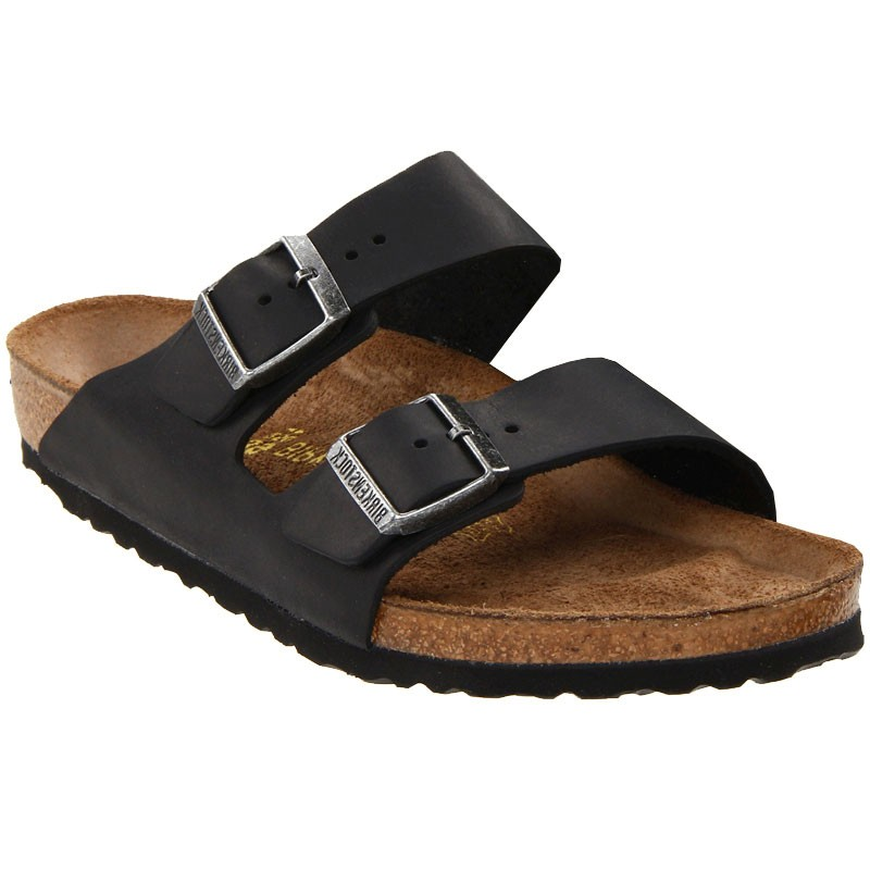 6975067a8a56 Birkenstock Arizona Black Oiled Leather 55211-1 3 (Unisex). Loading zoom
