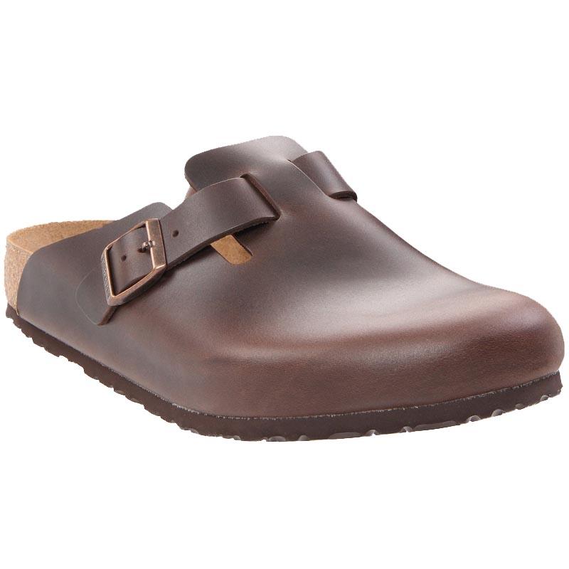 birkenstock boston soft footbed clog amalfi black leather