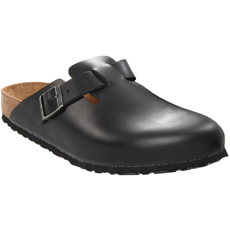 b386df662e9 Birkenstock Boston Soft Footbed Black Amalfi Leather 5983 (Unisex)