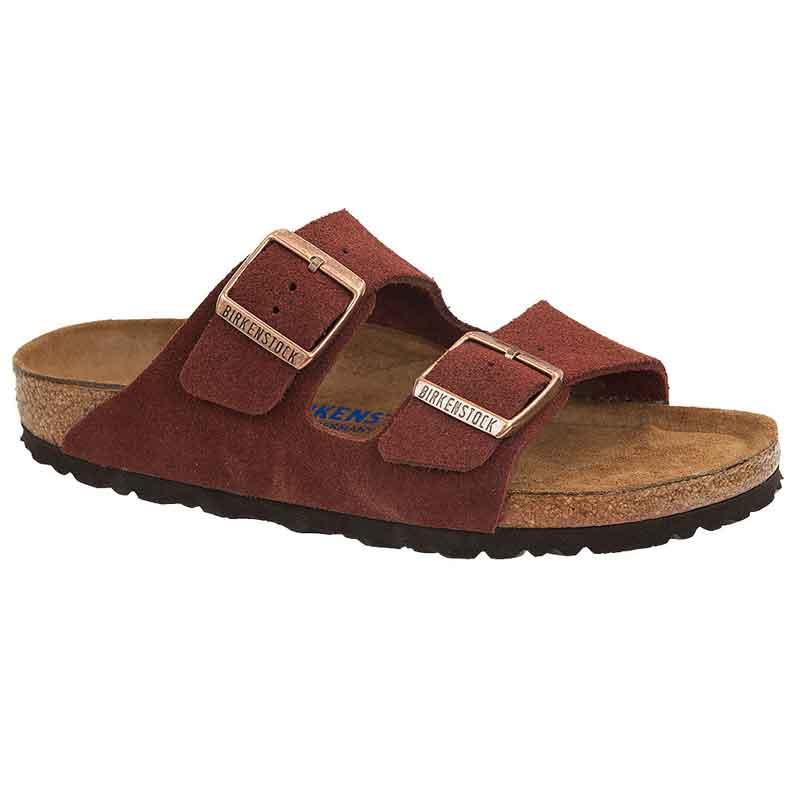 eb84447d432 Birkenstock Arizona Soft Footbed Port Suede 1011-304 (Women s)