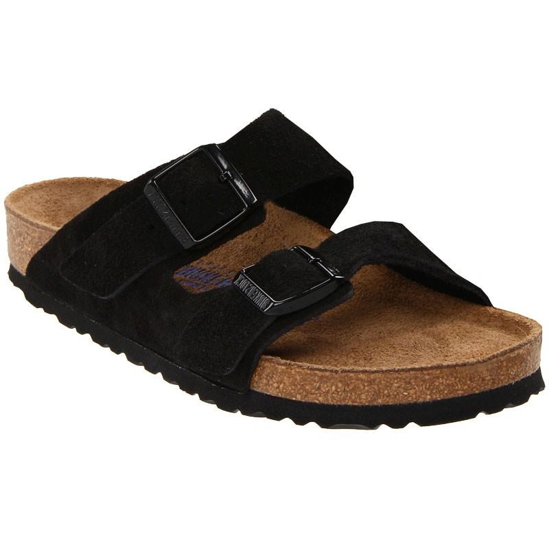 5869dec1630 Birkenstock Arizona Soft Footbed Black Suede 95132 (Unisex). Loading zoom