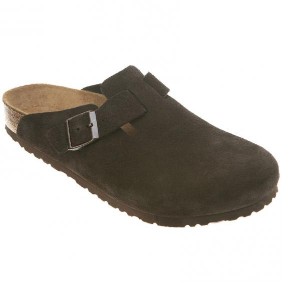 Birkenstock Boston Soft Footbed Mocha Suede 66046 (Unisex)