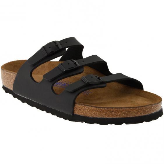 Birkenstock Florida Soft Footbed Black Birko-Flor 45343-1 (Women's)