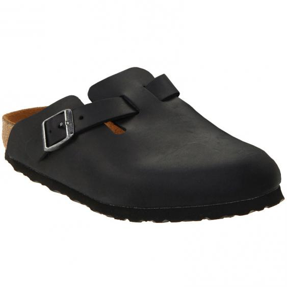 Birkenstock Boston Black Oiled Leather 5946-1/3 (Unisex)
