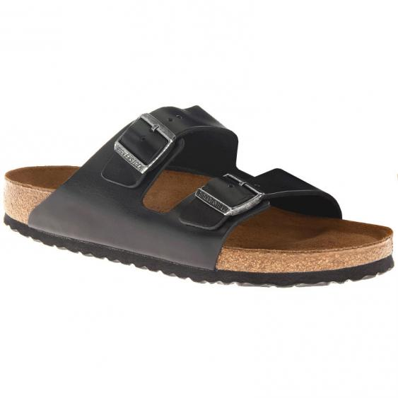 Birkenstock Arizona SF Black Amalfi Leather 55233 (Unisex)