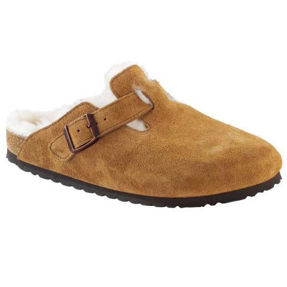 Birkenstock Boston Shearling Mink Suede 1001-141 (Women's)