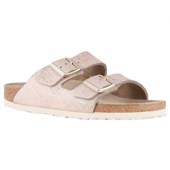 Birkenstock Arizona Washed Metallic Rose Gold 1008800 (Women's)