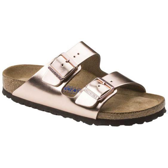Birkenstock Arizona Soft Footbed Metallic Copper 752723 (Women's)