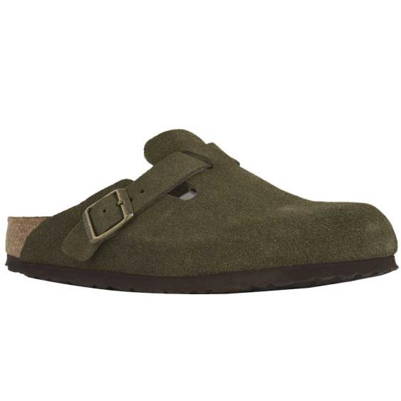 Birkenstock Boston Soft Footbed Forest Suede 1011-294 (Women's)