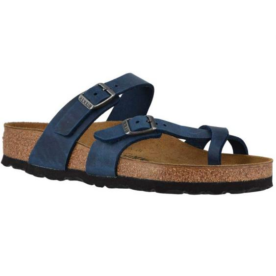 Birkenstock Mayari Blue Oiled Leather 1014-174 (Women's)