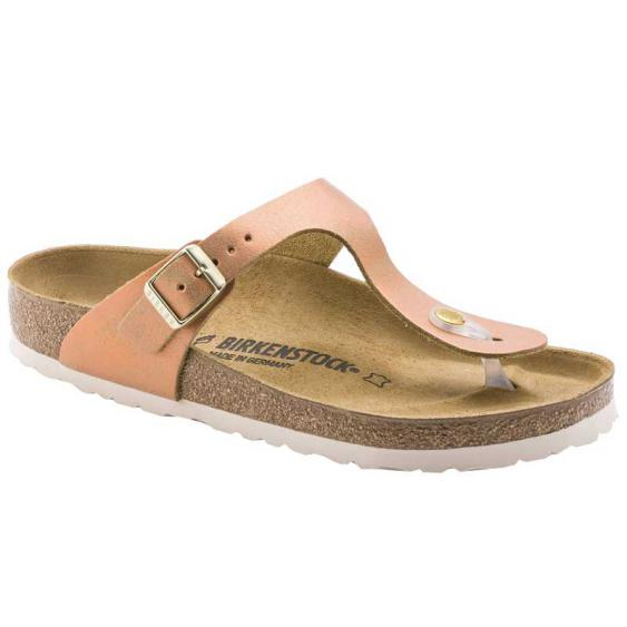 Birkenstock Gizeh Washed Metallic Sea Copper Leather 1012-909 (Women's)