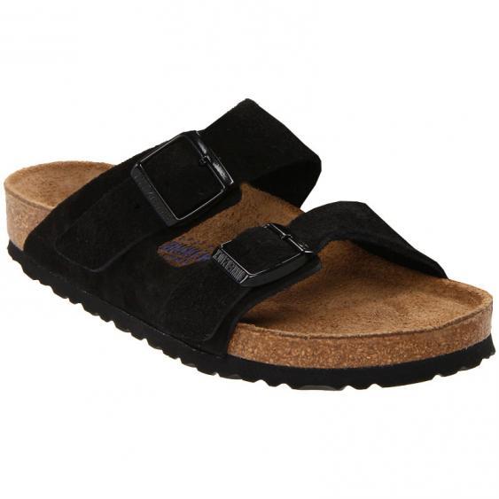 Birkenstock Arizona Soft Footbed Black Suede 95132 (Unisex)