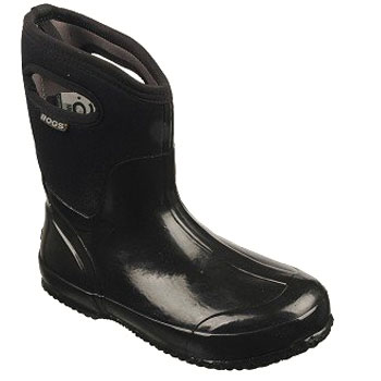 Bogs Classic Mid Solid Black Shiny 60156-001 (Women's)