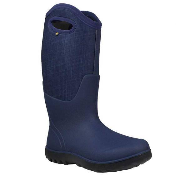 Bogs Neo-Classic Tall Linen Dark Blue Multi 72253-469 (Women's)