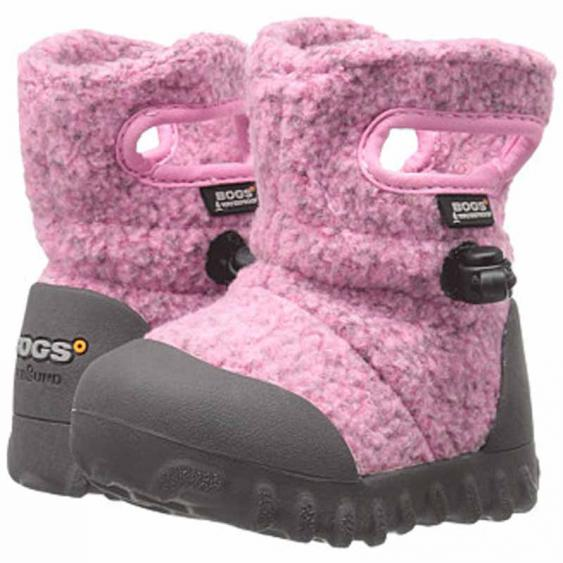 Bogs B-MOC Fleece Pink 72113I-650 (Infant)