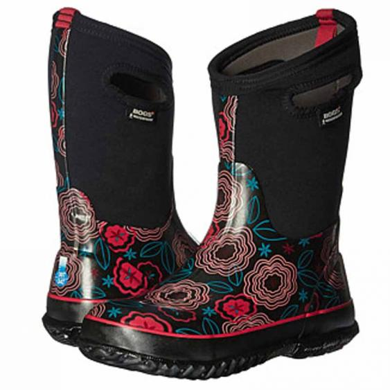 Bogs Classic Posey Black Multi 71994-009 (Youth)