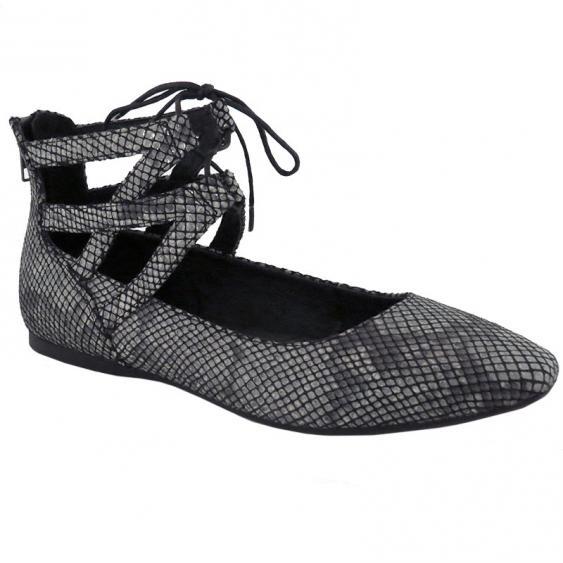 Born Glam Acciaio Light Grey Metallic Snake D79928 (Women's)