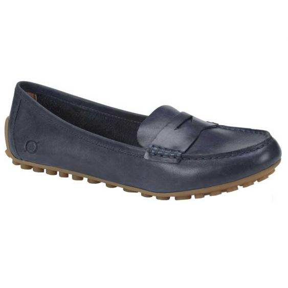 Born Malena Navy Full Grain F16434 (Women's)