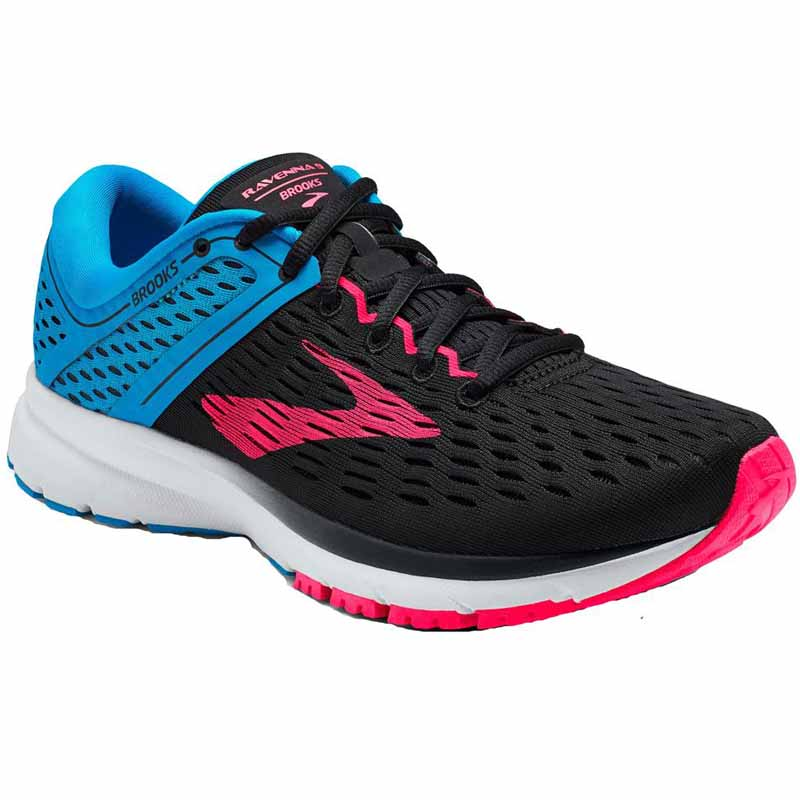 shades of new excellent quality Brooks Ravenna 9 Black / Blue / Pink 120269-036 (Women's)