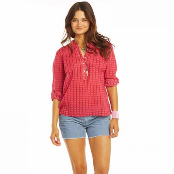 Carve Dylan Gauze Shirt Strawberry TWDG26-640 (Women's)