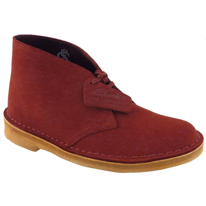 Clarks Desert Boot Cherry Suede 26111480 (Women s) 572590eb9350