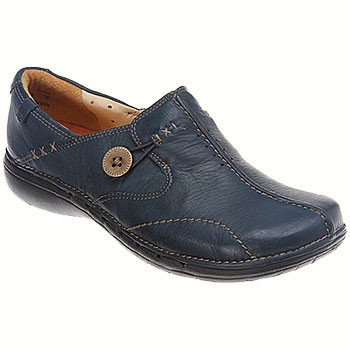 Clarks Unstructured Un.Loop Navy Leather 85074 (Women's)