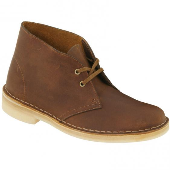 New Womens Clarks Desert Boots Beeswax Leather 70294  26111499   EBay