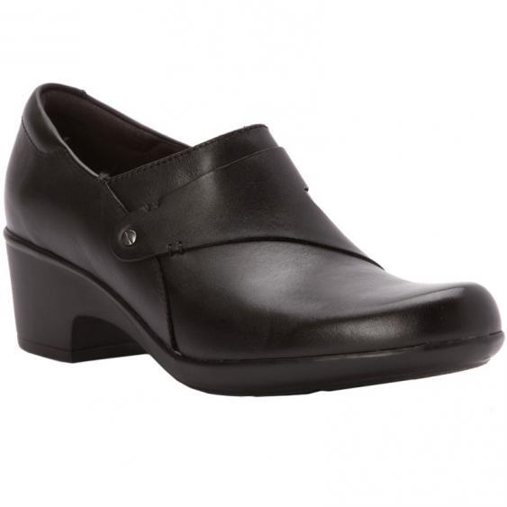 Clarks Genette Frolic Black Leather 26112334 (Women's)