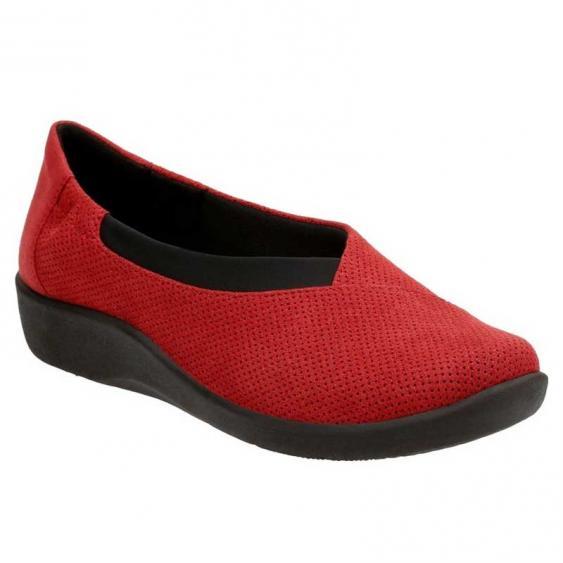 Clarks Sillian Jetay Red Perf 26125724 (Women's)