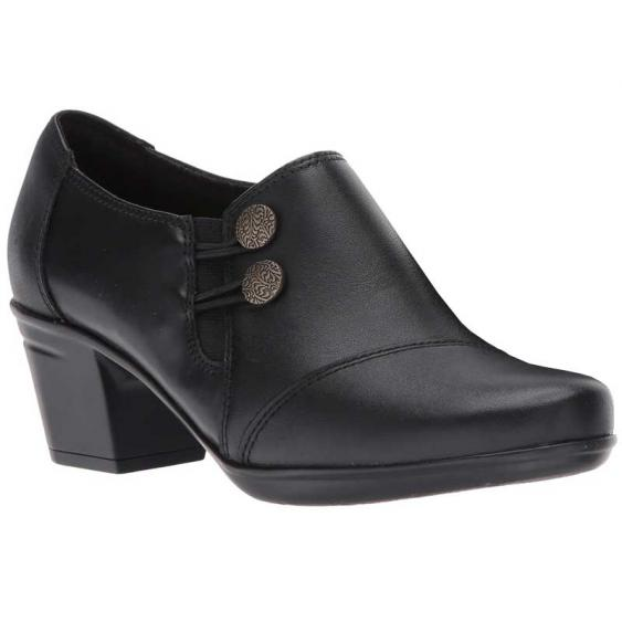 Clarks Emslie Warren Black 26128442 (Women's)