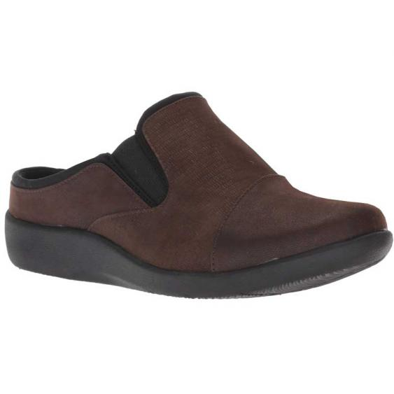Clarks Sillian Free Dark Brown Combination 26138020 (Women's)