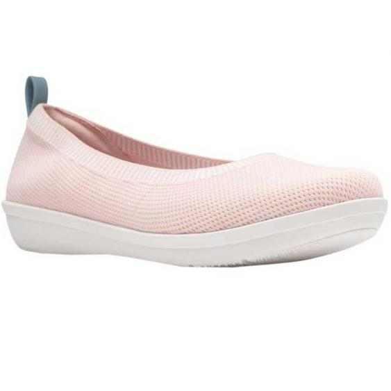 Clarks Ayla Paige Light Pink Knit 26141471 (Women's)
