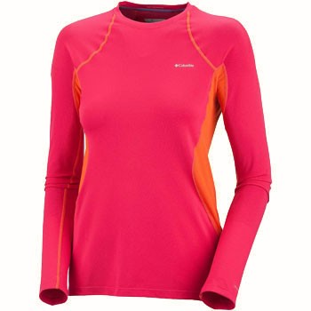 Columbia Baselayer Midweight LS Top Bright Rose AL6654-600(Women's)