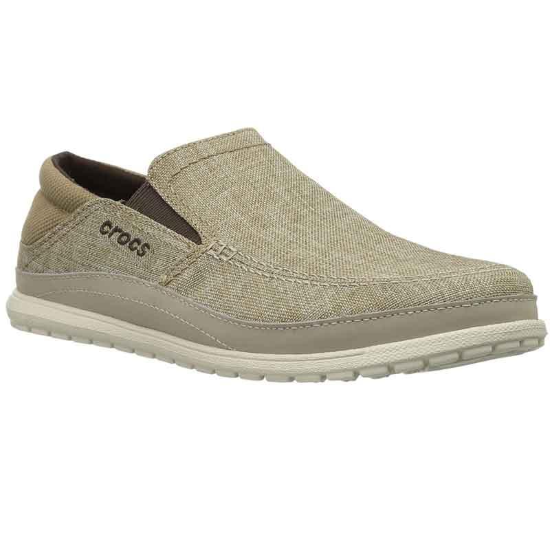 8f27675fb14dea Crocs Santa Cruz Playa Slip-On Khaki Stucco 204835-26P (Men s). Loading zoom