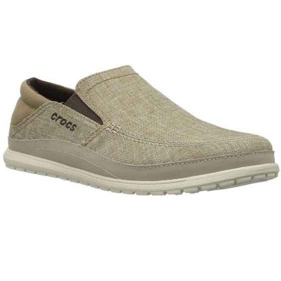 Crocs Santa Cruz Playa Slip-On Khaki/Stucco 204835-26P (Men's)