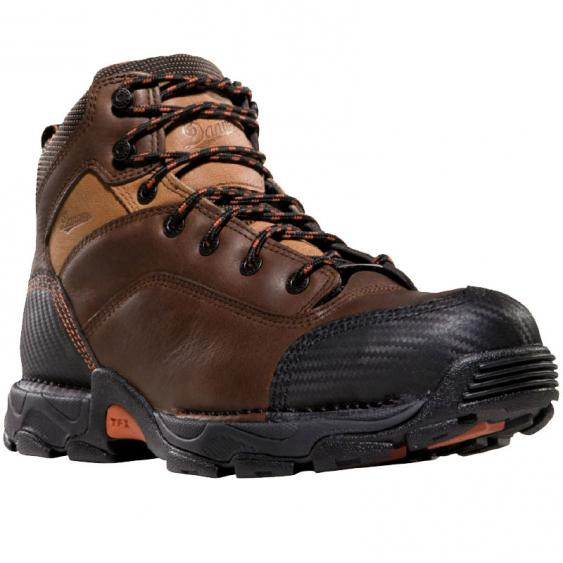 Danner Corvallis GTX Plain Toe Work Boots Brown 17601 (Men's)